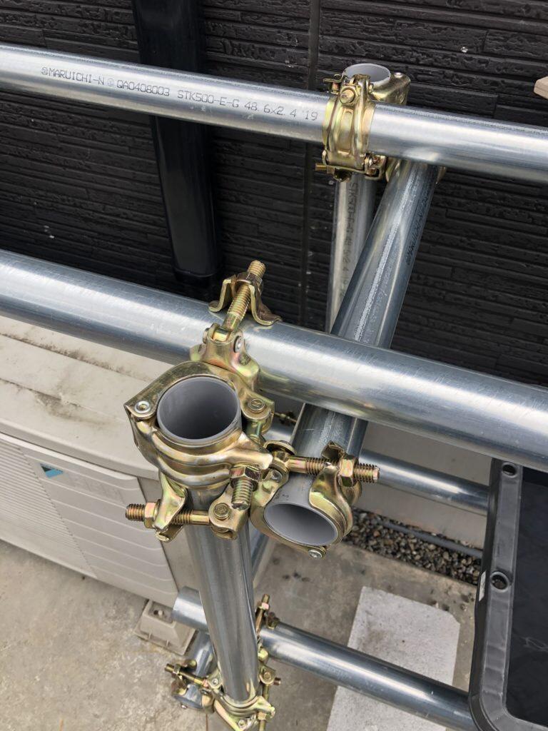 メダカラック(棚)の作り方と単管パイプ