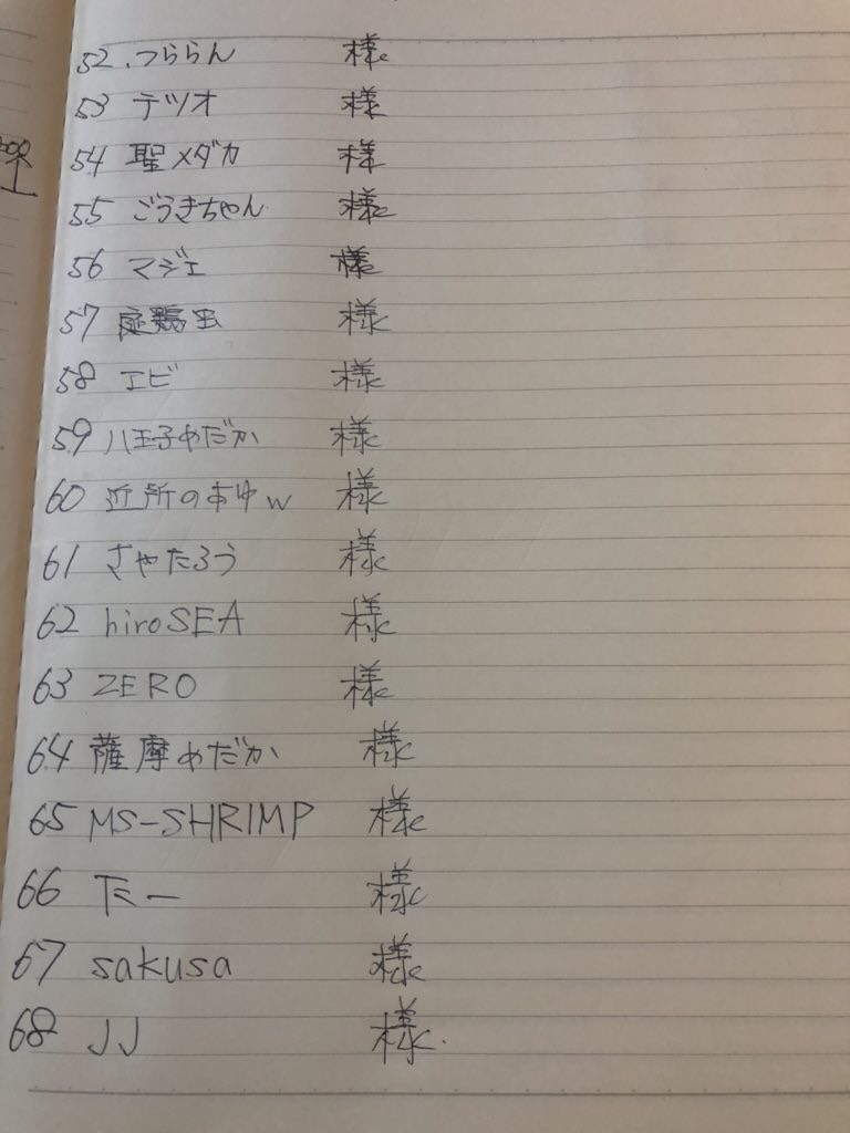 メダカ選別用のタモ網(プレゼント企画応募者)