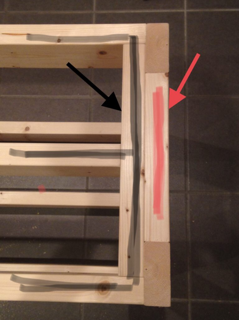 120cm水槽の台(棚)の構造