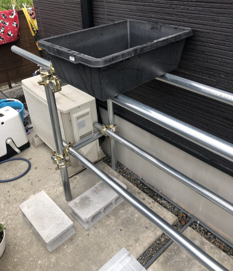 メダカラック(棚)の作り方と飼育容器