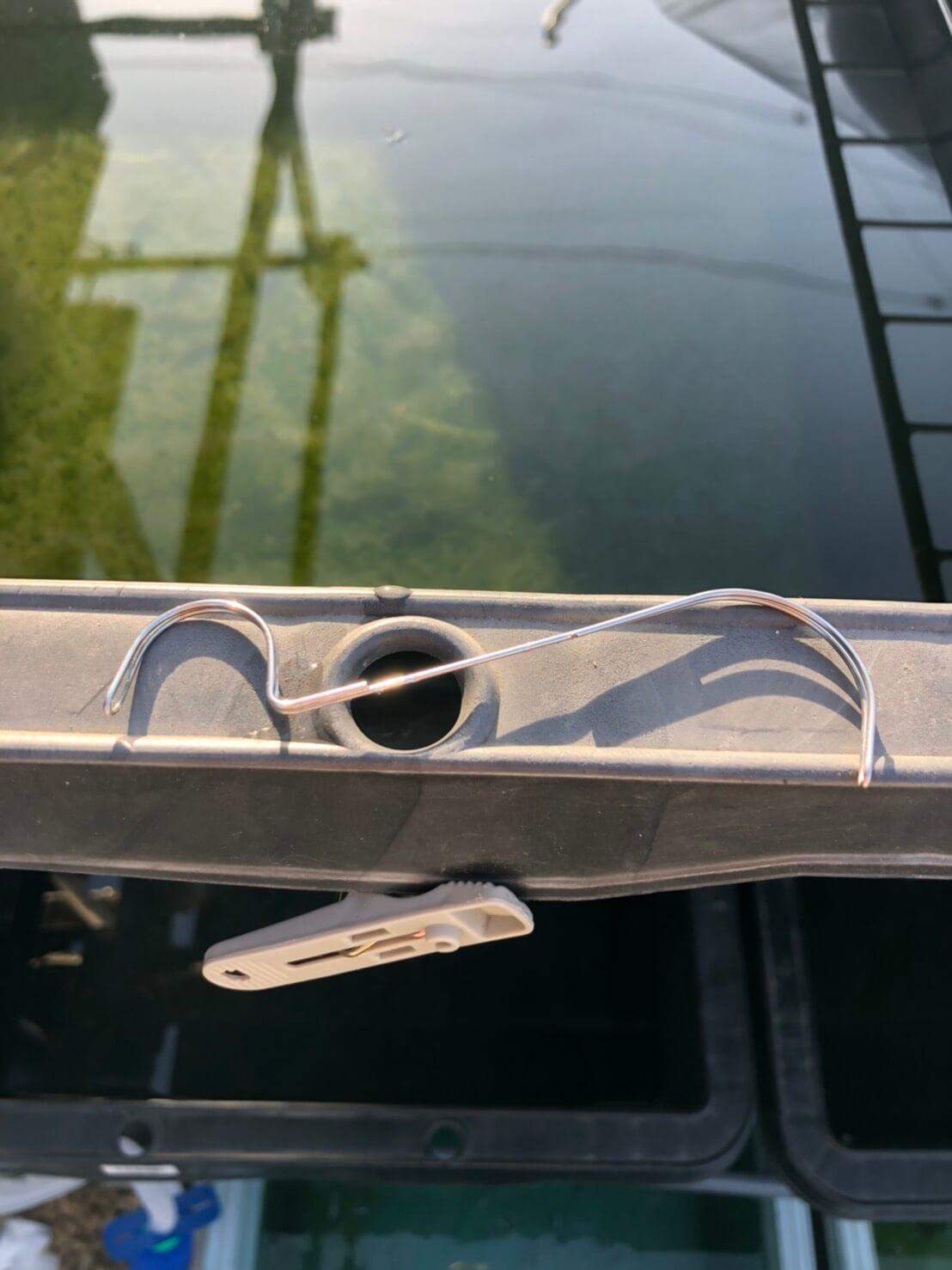 浮き輪タイプのタモ網