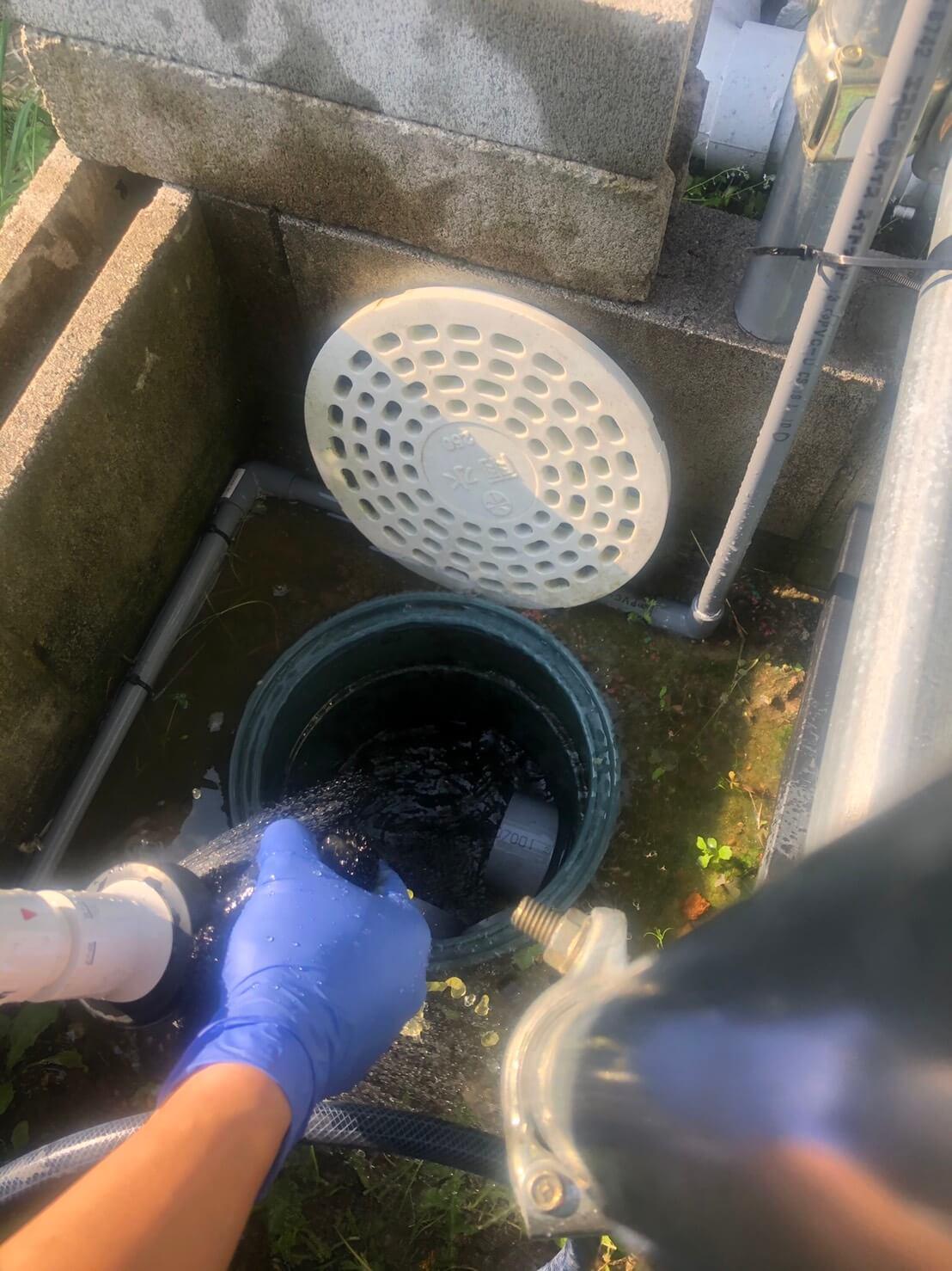 雨水桝の掃除