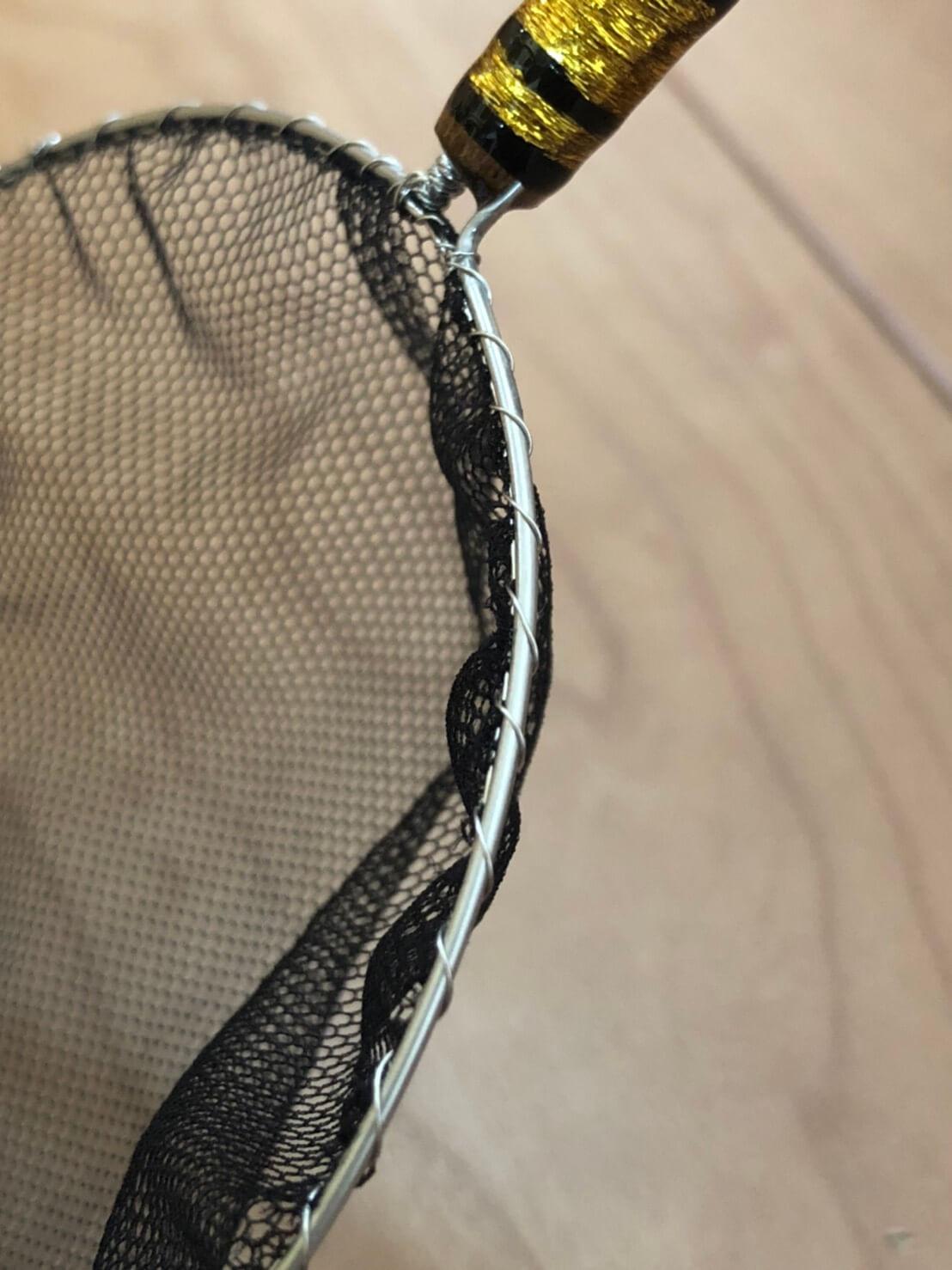 網がよくしなるメダカの選別用タモ網