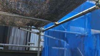 遮光ネットでメダカ容器の暑さ対策