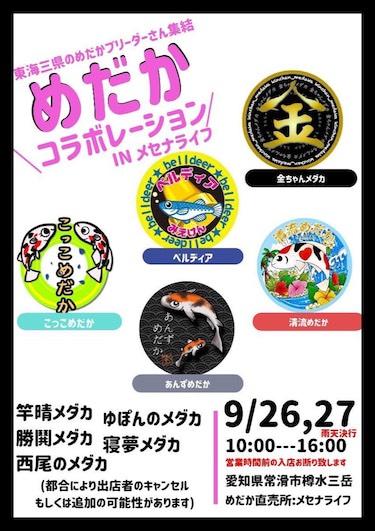 メセナライフメダカ直売所で開催されたメダカ販売イベント(2020年9月27日)