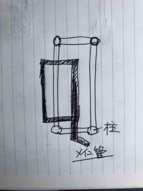 一方コック付き分岐管の配管図