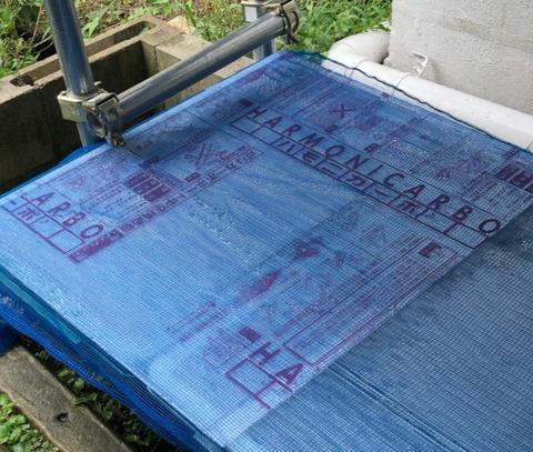 ポリカーボネート板のメダカ容器のフタ