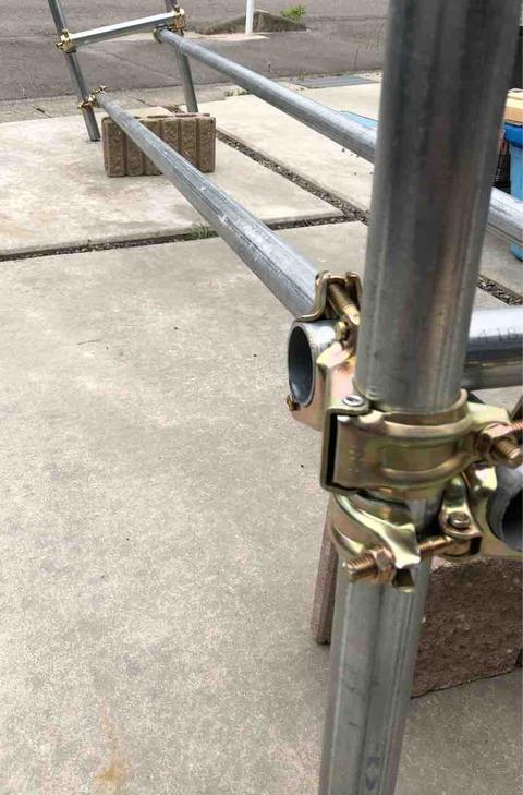 メダカラック(棚)の単管パイプ